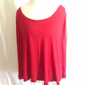 Free people wide red top